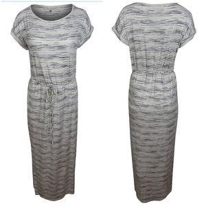 🆕Max Studio Slub Striped Maxi Jersey Dress